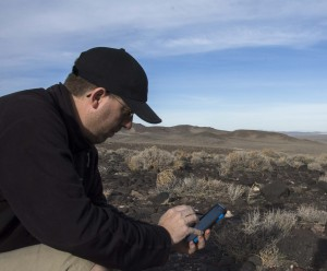 The author uses his Samsung Note 3 phone frequently when navigating and collecting data in the field.