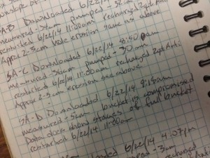 Ever try to read your handwriting from years previous in a field notebook? Not pretty.