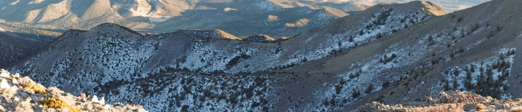 This panorama was taken to record the precise snow conditions across microtopography associated with a vegetation study. The original image is dimensioned 30,000 x 5000 pixels.
